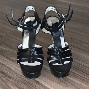 Black MK Strappy Heels